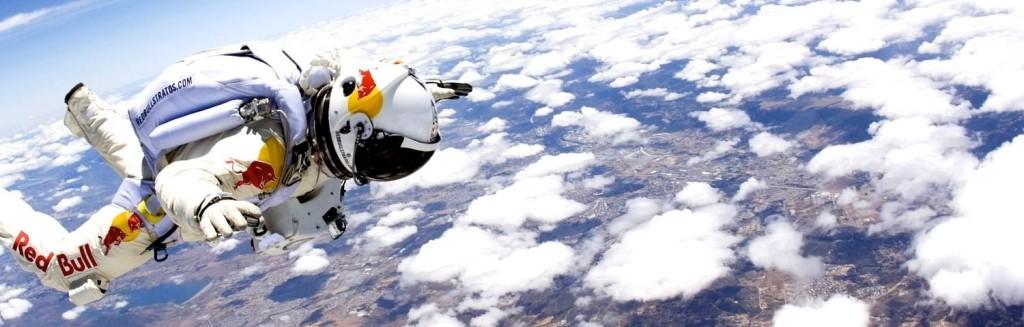 "POV Video of Felix Baumgartner Skydiving From ""The Edge of Space"""