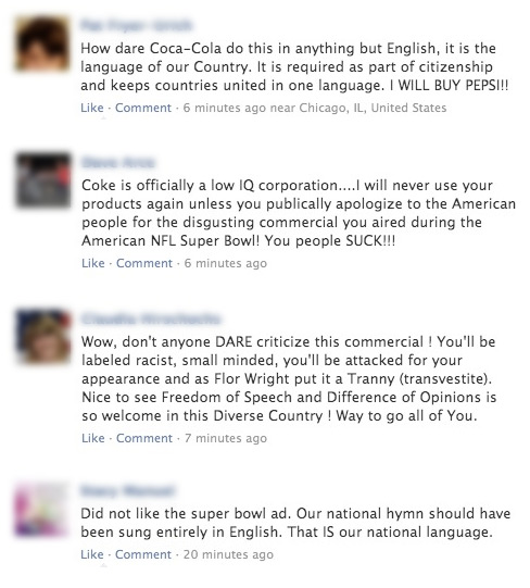 Racists Grazing In Their Natural Habitat... Facebook.